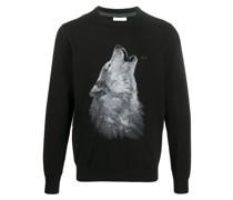 Pullover mit Wolfs-Print