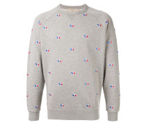 Sweatshirt mit Fuchsstickerei
