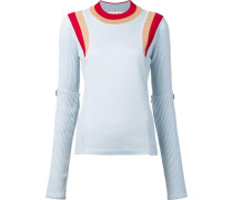 Schurwollpullover in Colour-Block-Optik