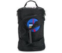 abstract patch holdall backpack