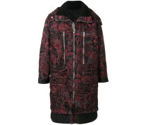 oversized Chaos print coat