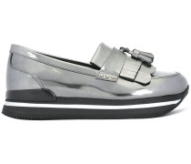 Flatform-Loafer im Metallic-Look