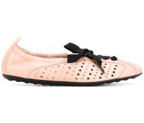 - Ballerinas mit Schnürung - women - Leder/rubber