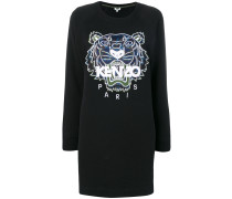 Sweatshirtkleid mit Tigerstickerei
