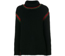 embroidered roll-neck sweater