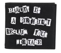 Garavani wallet with Jamie Reid patches