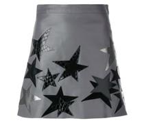 star patch a-line skirt
