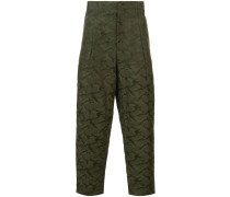 camouflage cropped trousers