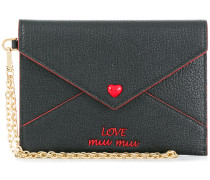 Love embroidered envelope pouch