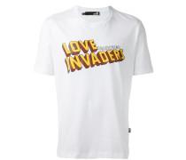 "T-Shirt mit ""Love Invaders""-Print"