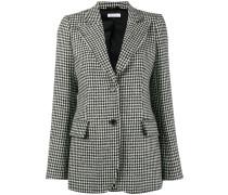 isaacs houndstooth wool-blend blazer