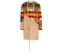 Kapuzenmantel mit Navajo-Muster