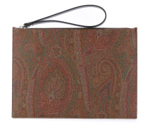 Clutch mit Paisley-Muster