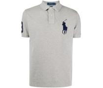 Poloshirt mit Oversized-Logo