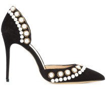 pearl detail stiletto pumps