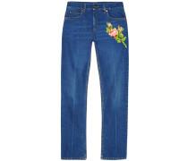 Jeans mit Stickerei - women - Baumwolle - 24