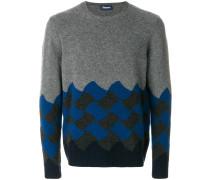 Klassischer Pullover in Colour-Block-Optik