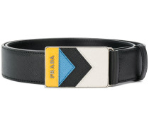 chevron buckle belt