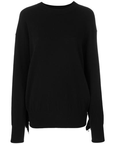 Verzierter Pullover mit Kunstperlen