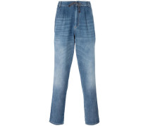 drawstring straight jeans
