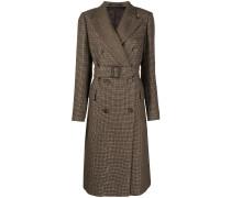 Doppelreihiger Mantel mit Verzierung