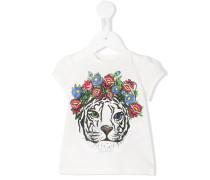 T-Shirt mit Tiger-Print - kids - Baumwolle - 18