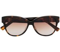 Cat-Eye-Sonnenbrille mit Streifen