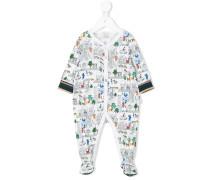 Pyjama mit Stadt-Print