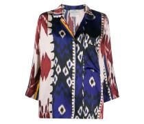 Seidenhemd mit abstraktem Muster