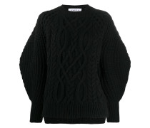 'Aran' Pullover mit Zopfmuster
