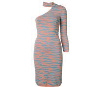 Intarsien-Kleid mit Animal-Print