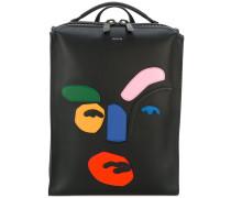 Rucksack mit abstraktem Design - men - Leder