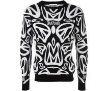 Intarsien-Pullover mit Peace-Zeichen