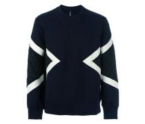 Sweatshirt mit gesteppten Einsätzen