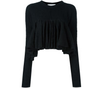 ruffled cropped jumper