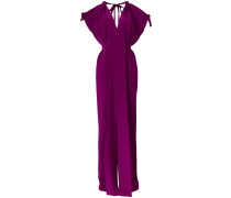 tied sleeve gown
