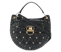 quilted rivet tote bag