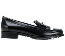 Loafer mit Metallic-Schild