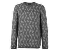 Pullover mit Diamanten-Print