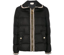 knit embroidery down jacket