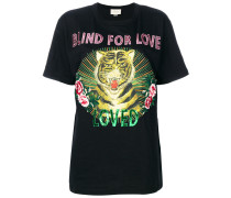 Blind for Love tiger print T-shirt