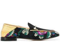 Loafer mit Blumenstickereien