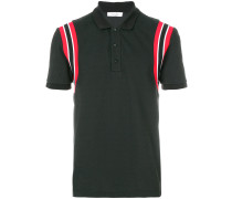 stripe shoulder polo shirt