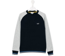 Sweatshirt mit Kontrastärmeln - kids