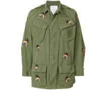 Military-Jacke mit Palmenstickerei