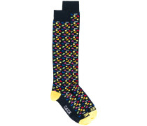 geometric patterned socks