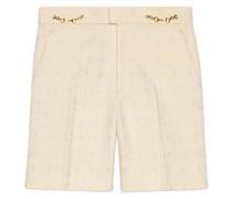Tweed-Shorts mit Horsebit