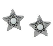 flat pearl star stud earrings