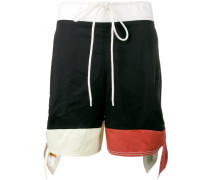 colour block shorts - women - Baumwolle - 40