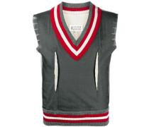 ribbed edge vest jumper